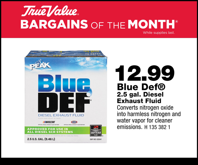 $12.00 for Blue Def 2.5 Gal Diesel Exhaust Fluid